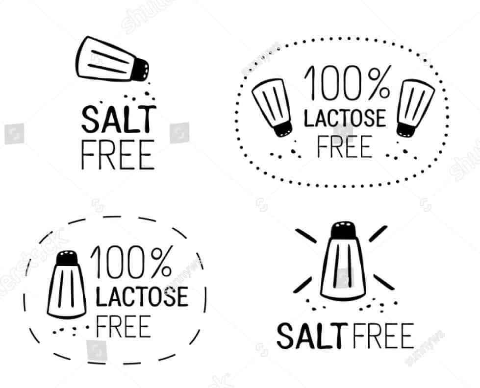 text image of salt free and 100% lactose free water bottle with filter for travel
