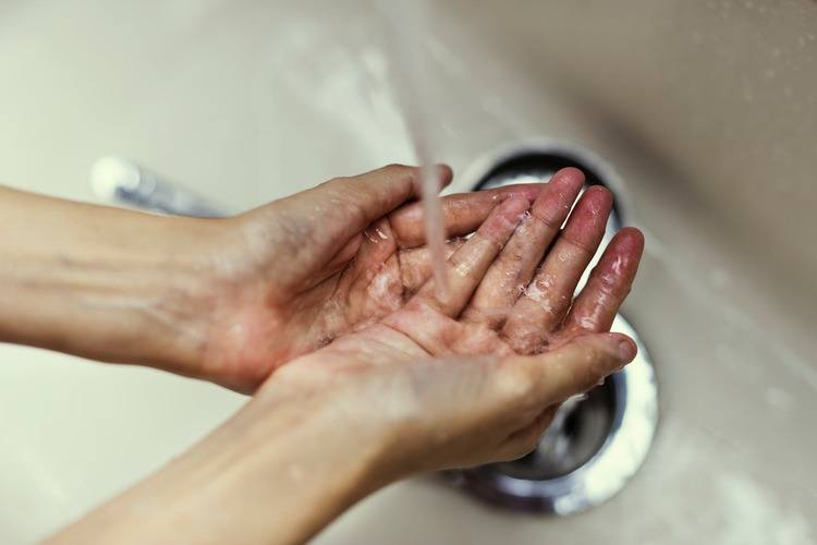 Person Wash Hands
